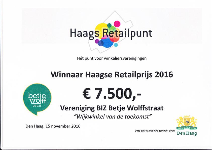 Betje Wolffstraat Winnaar van de HRP Retail prijs 2016!